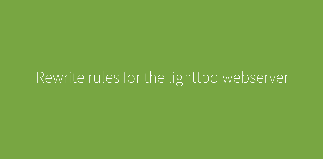 Rewrite rules for the lighttpd webserver