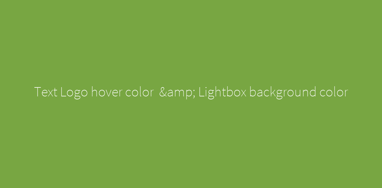 Text Logo Hover Color Lightbox Background Color